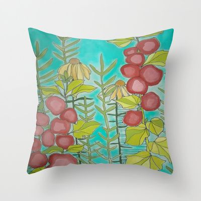 Flora and Fauna Throw Pillow by  JESSIE SCHULLER  - $20.00