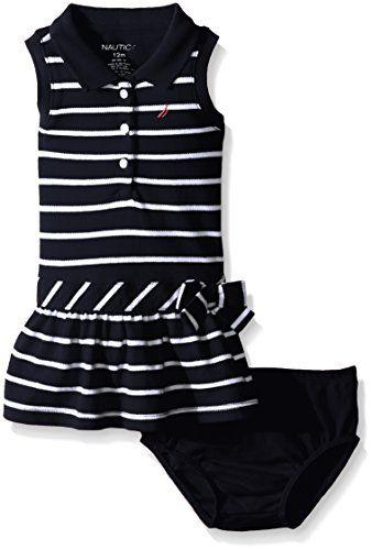 Nautica Childrens Apparel Toddler Girls Sleeveless Pique Dress W//