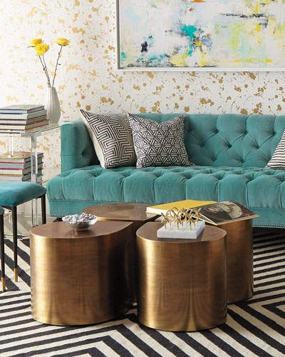 Jonathan Adler Brass Teardrop Table. Splendid And Great Contemporary Small  Living Room Area Home Style