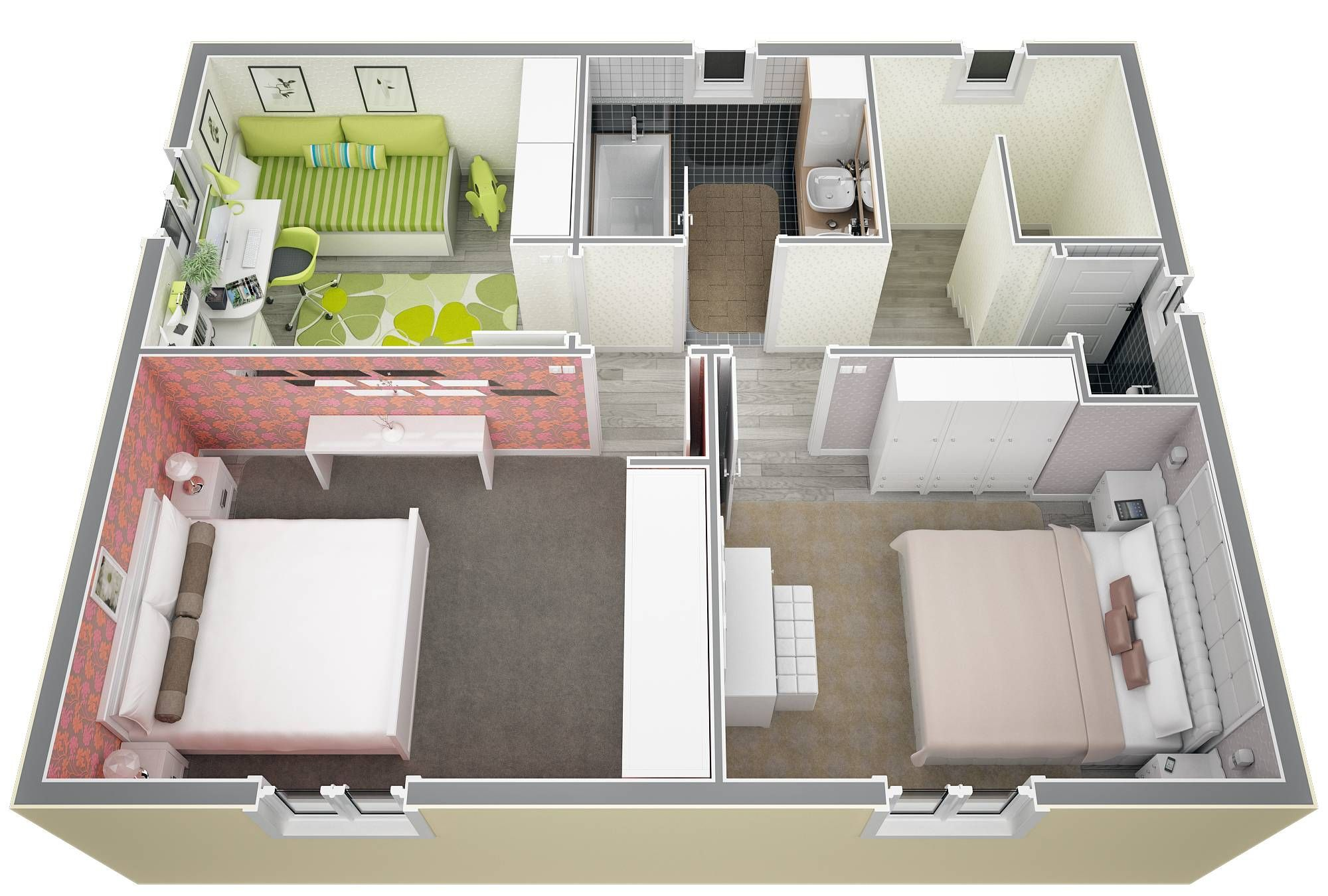 plan appartement 130m2