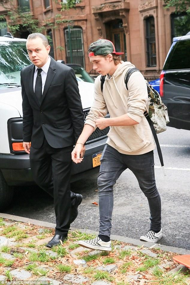 Brooklyn Beckham wearing Vans Classic Checkerboard Slip-on, Saint ...