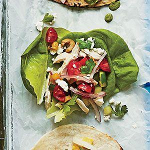Greek Chicken Tacos (or Pitas)