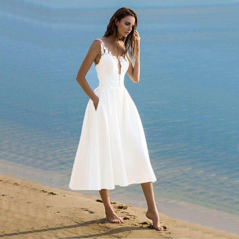 Evening Dress Vintage Tea Length Short Formal Dress V Neck Ivory White Dress Party In 2020 White Evening Dress Evening Dresses Vintage Evening Dresses Elegant