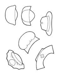 coloring pages lesson plan our community   community helpers hats printables - Google Search ...
