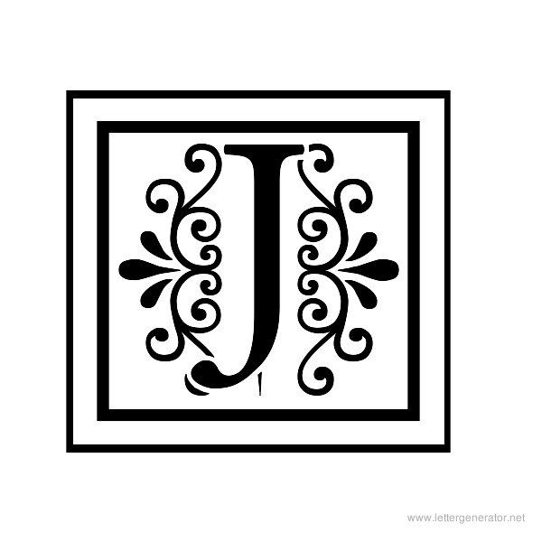 Apex Lake Printable Decorative Alphabet Letter J | Letter ...