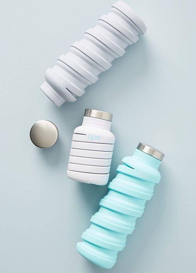 8 Stylish Water Bottles That Are Hydration and Fashion Goals is part of Stylish water bottles, Collapsible water bottle, Foldable water bottle, Cute water bottles, Reusable water bottles, Que bottle - Haute hydration is where it's at