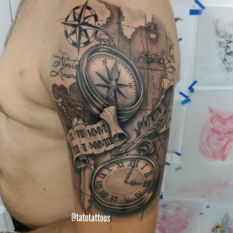 #clocktattoo #compass #brujulatattoo #reloj #rockcitytattoo #rockcitybucaramanga #Bucaramanga #tattoo #tattoos #tatuajes #tatuagem #tatocastro #tatuajesbucaramanga #tatuador #tattoopics #tatuados #Bucaramangatattoo #Colombiatattoo #tatuajescolombia #tattooartist   @tatotattoos  @tatotattoos  @tatotattoos