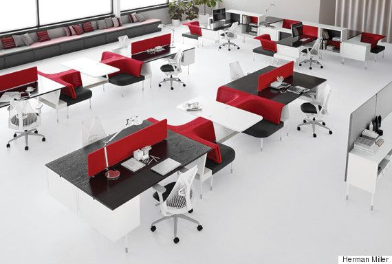 6 Desks That Will Make You Happier And More Productive At Work Open Office Furniture Office Layout Office Interior Design