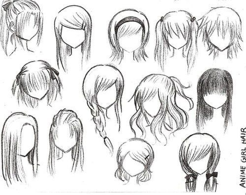 Exemple de coupe de cheveux pour vos personnage de manga - Dessin de coupe de cheveux ...