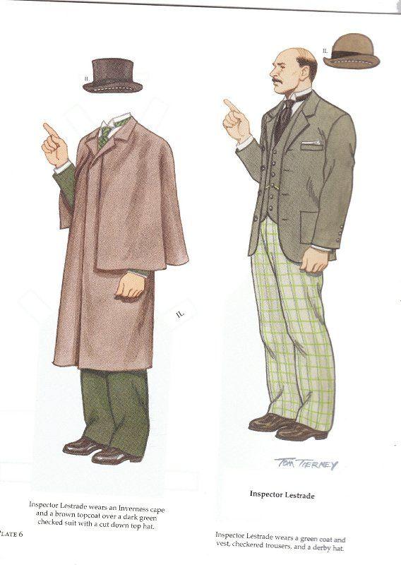 sherlock holmes inspector lestrade paper dolls stage