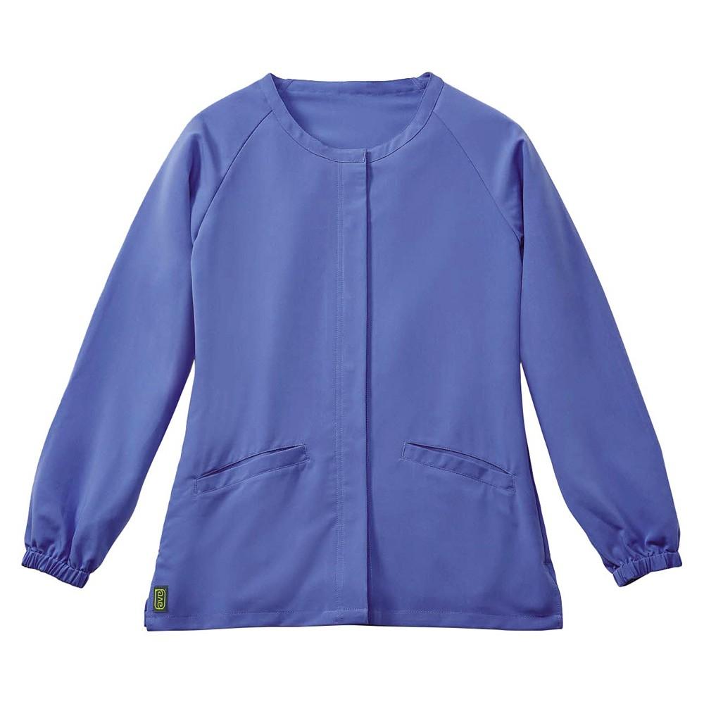Attractive Addison Ave Scrub Jacket Ceil Blue Small