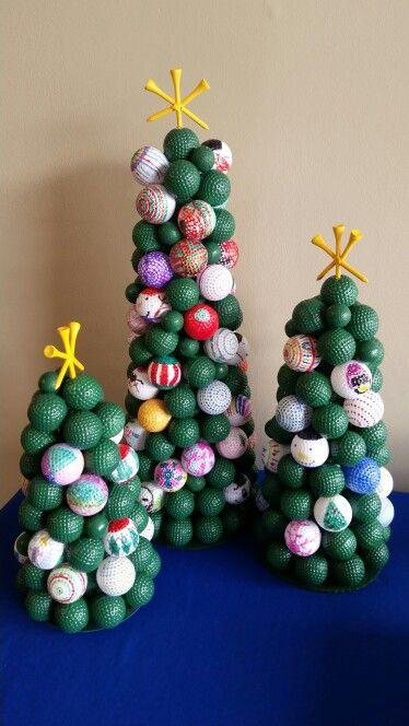 Golf Ball Christmas Trees In 2020 Golf Birthday Gifts Golf Gift Basket Golf Ball