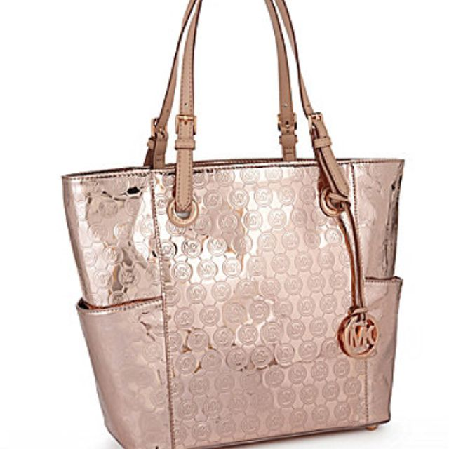 67dc5049e0 Michael Kors Rose Gold Tote