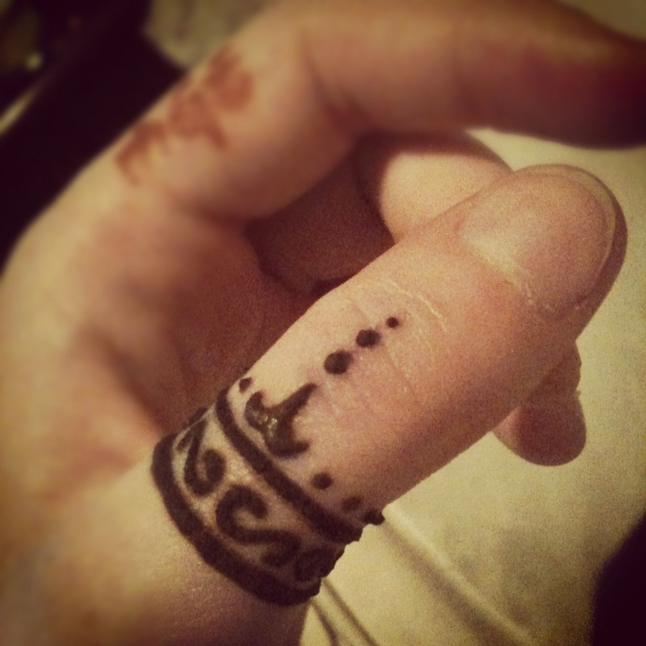 Henna Tattoo Ring Designs: Henna Thumb Ring Design And Elvish Tengwar Script Author J