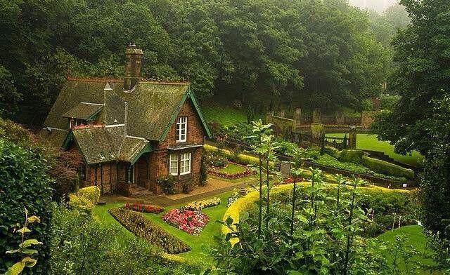 Princes Street gardens in Scotland