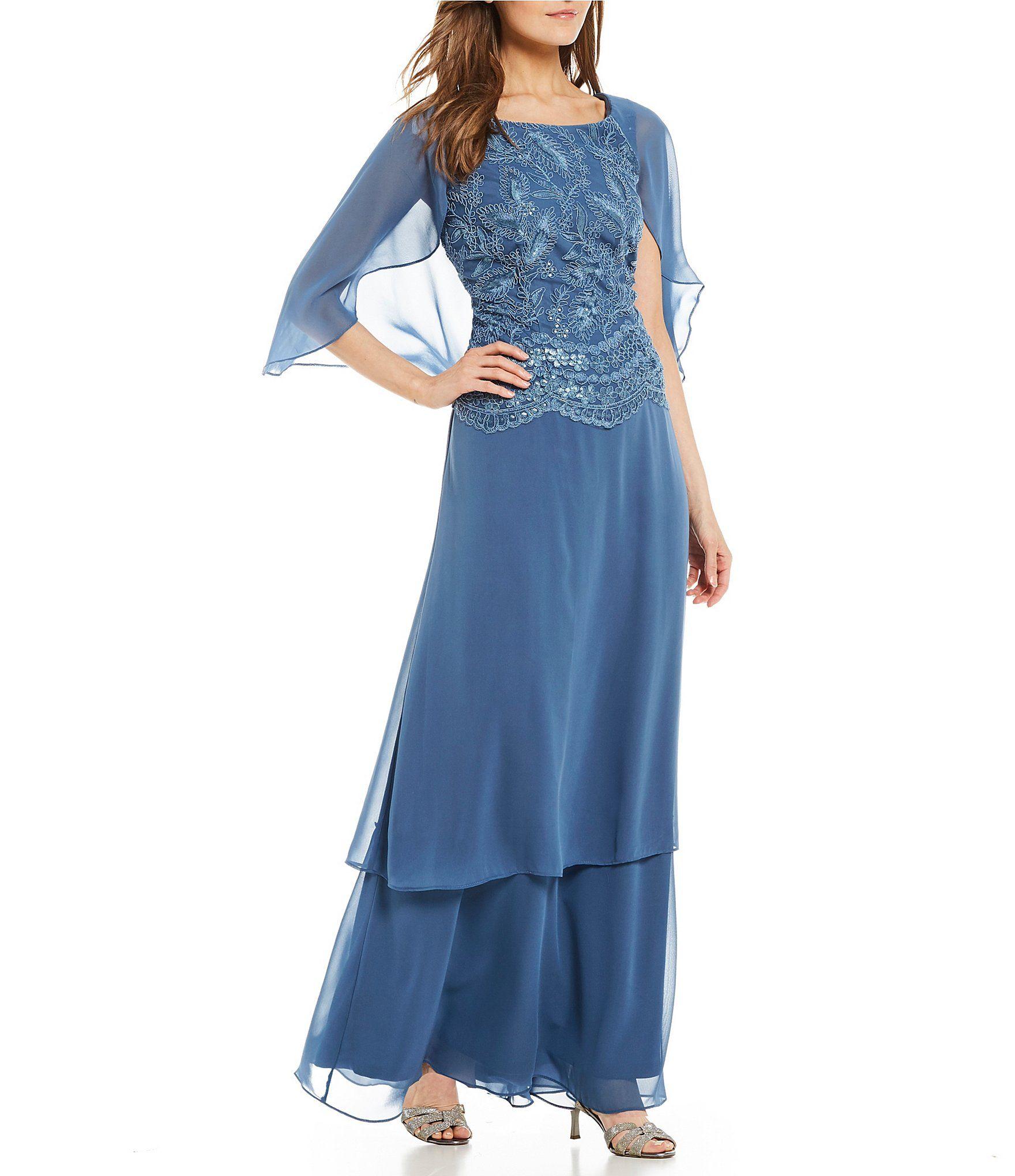 5acf37875c Shop for Le Bos Sequin Embroidered Capelet Long Dress at Dillards.com. Visit  Dillards