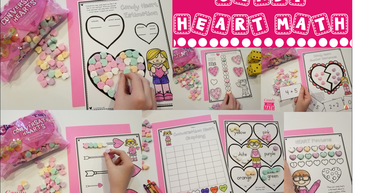 Candy Heart Math My kinders love using candy during math