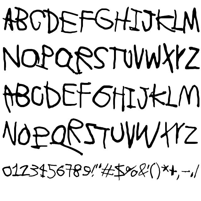 Lyhyt Lauantai Font