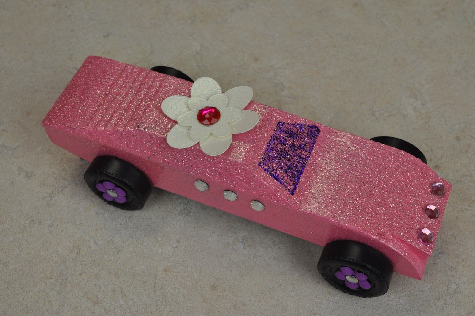 Pinewood derby with my pink stamper
