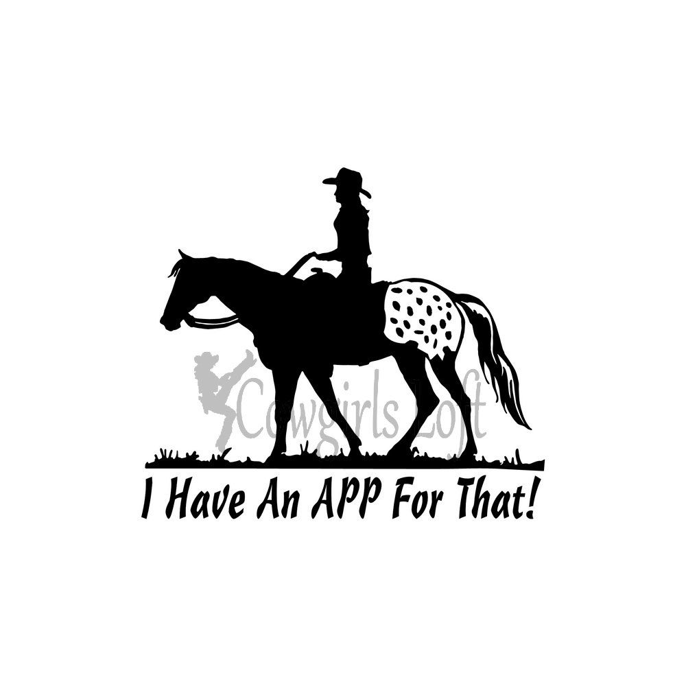 Appaloosa Horse Decal Saying  App For That Appy Lover Decals - Horse decals for trucks