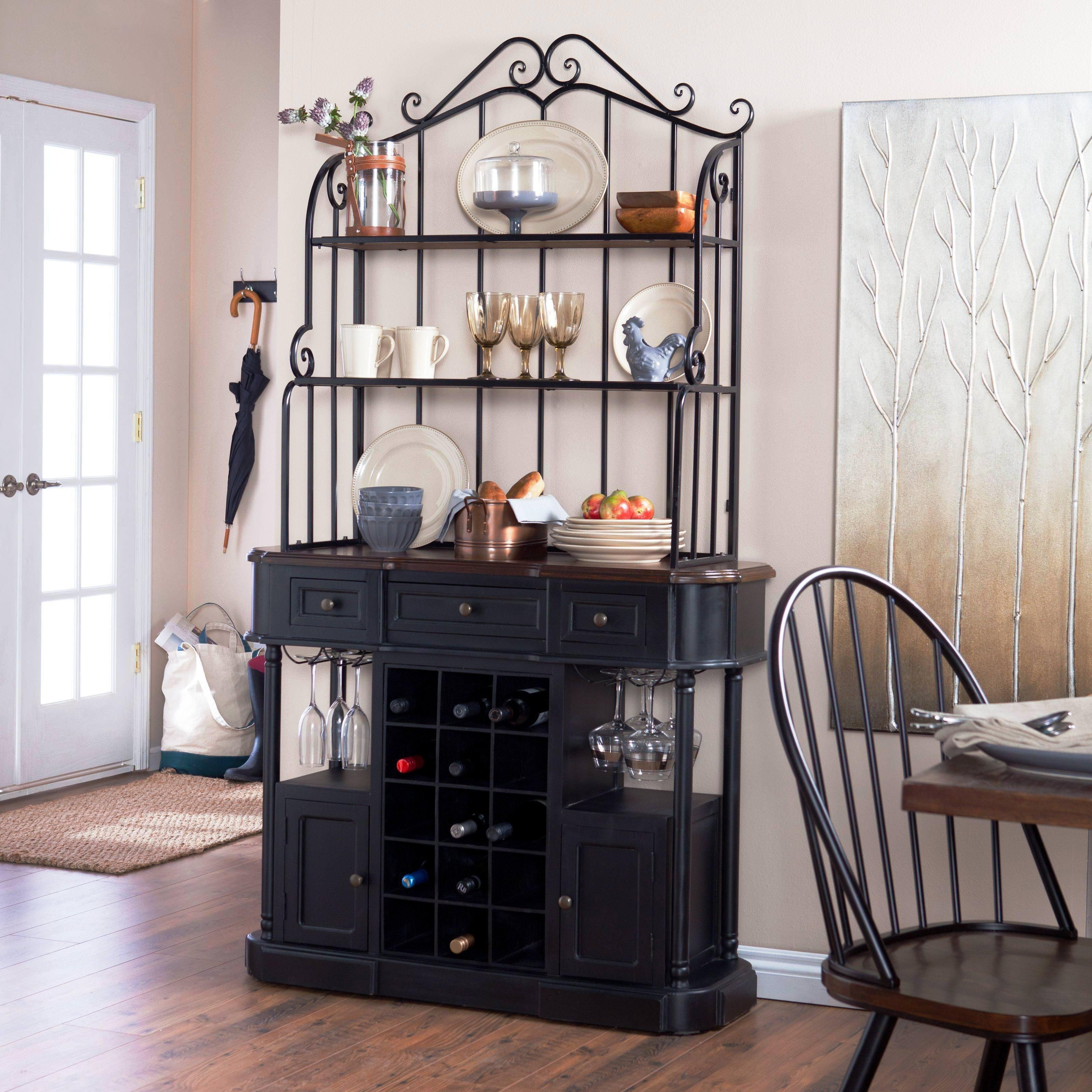 Image Of: Best Bakers Rack With Wine Storage Designs Ideas