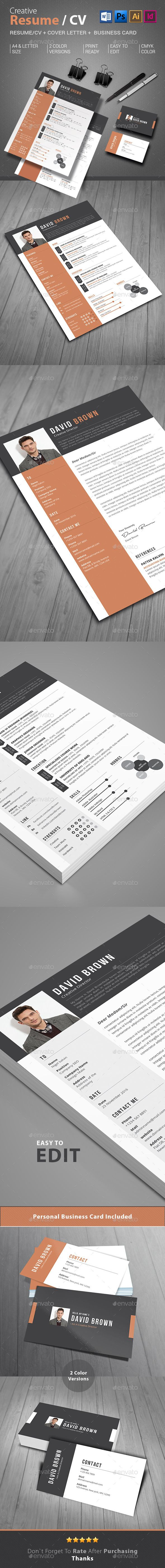 Resume | Cv template, Resume cv and Photoshop illustrator