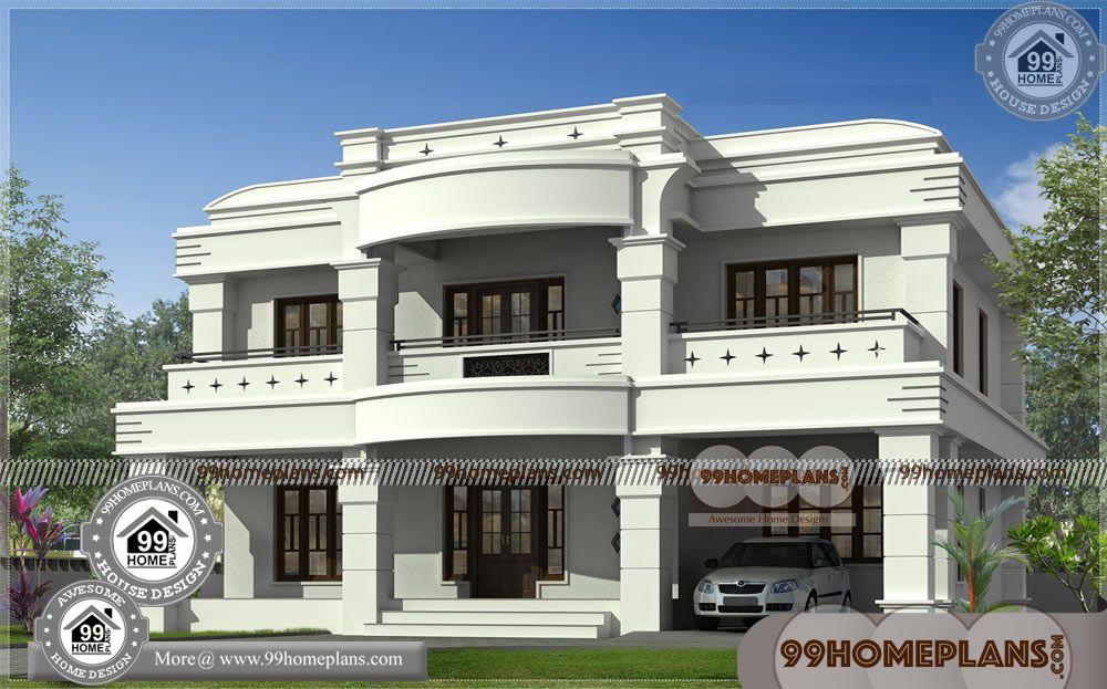 Modern Design House With Luxury Double Storey House Plans Having 2 Floor 3 Total Bedroom 3 Kerala House Design Double Storey House Double Storey House Plans