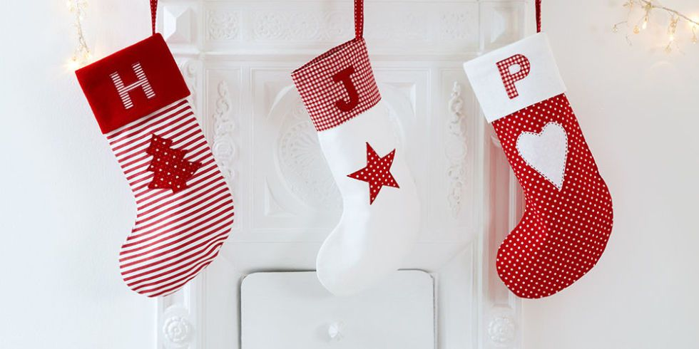 How to sew personalised Christmas stockings with appliqué initials ...