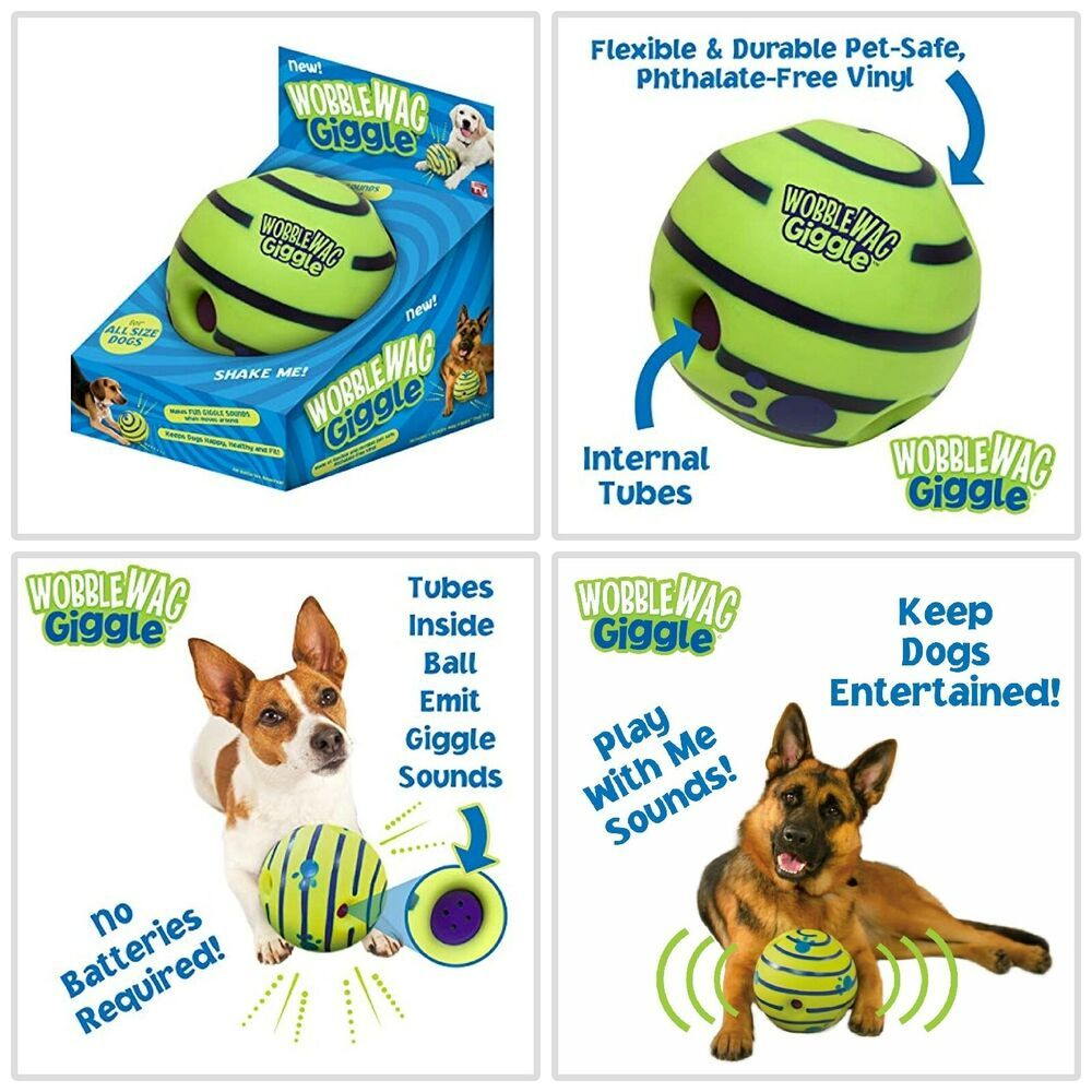 Dog Ball Wobble Giggle Toy Indestructible Toys Balls For Large As Seen On Tv New Smart Dog Toys Outdoor Dog Toys Dog Ball