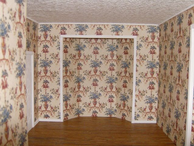 Dollhouse Wallpapering Guide Diy Doll Miniatures Doll House Miniature Diy