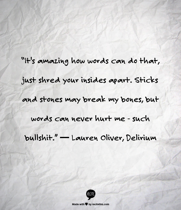 Delirium Quote