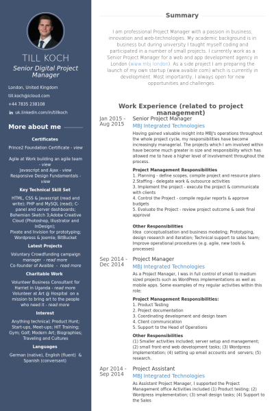 best manager resume examples