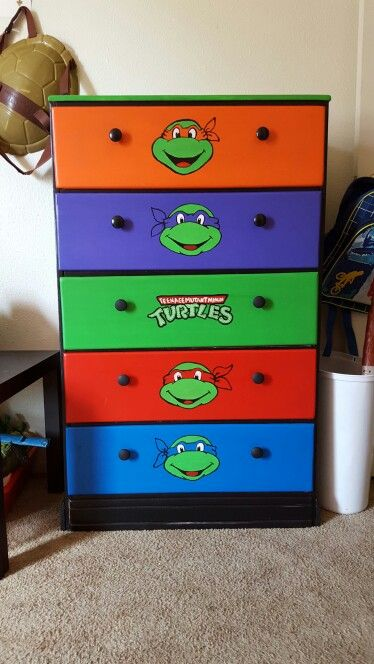 Tmnt Ninja Turtles Hand Painted Dresser Frankies Room