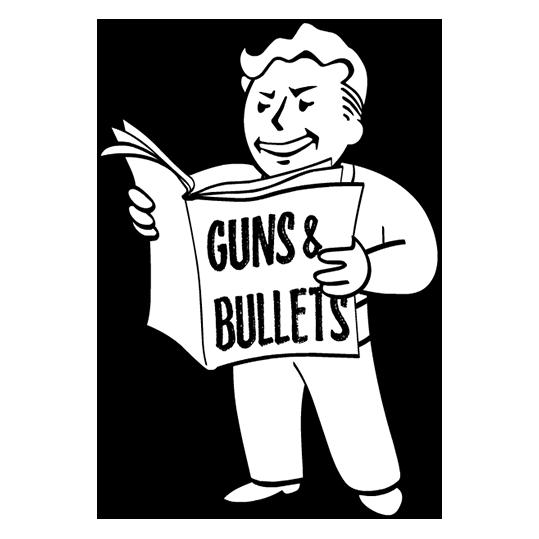Guns And Bullets Perk Fallout Funny Fallout Art Vault Boy