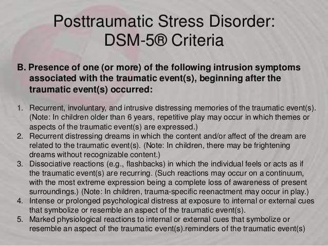 dsm 5 ptsd criteria