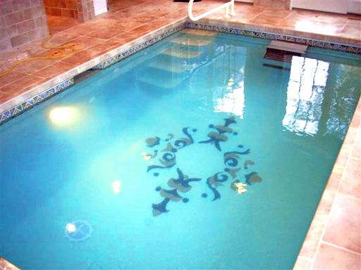 Glass Masterpiece Accent custom mural for bottom of pool ...