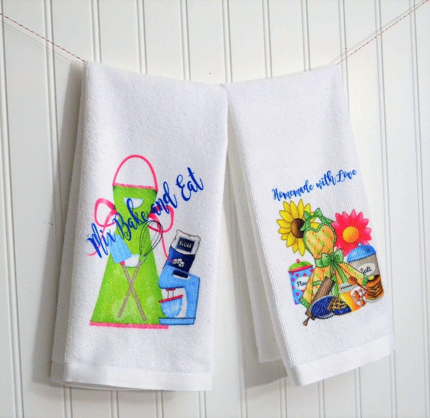 Kitchen Baking Dish Hand Towel, Retro Modern Hand Towel with ...
