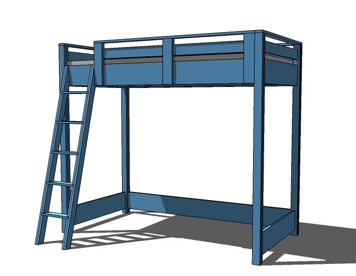 A Blue Loft Bed for My Son | Ideas for spaces and rooms | Pinterest ...