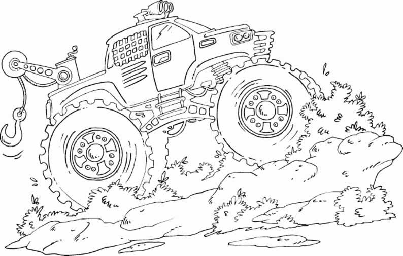 Race Truck Coloring Pages Monster Truck Coloring Pages Truck Coloring Pages Halloween Coloring Pages
