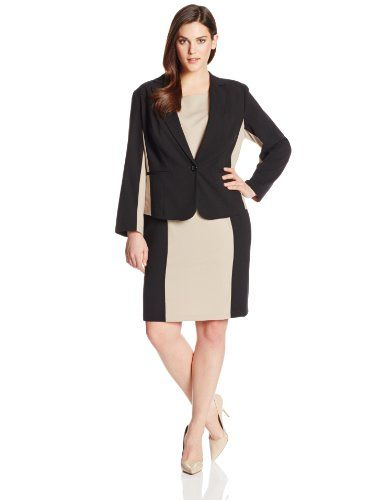 separation shoes bec9e 20c7c AGB Women s Plus-Size Sleeveless Sheath Dress with Jacket, Black Multi, 18W