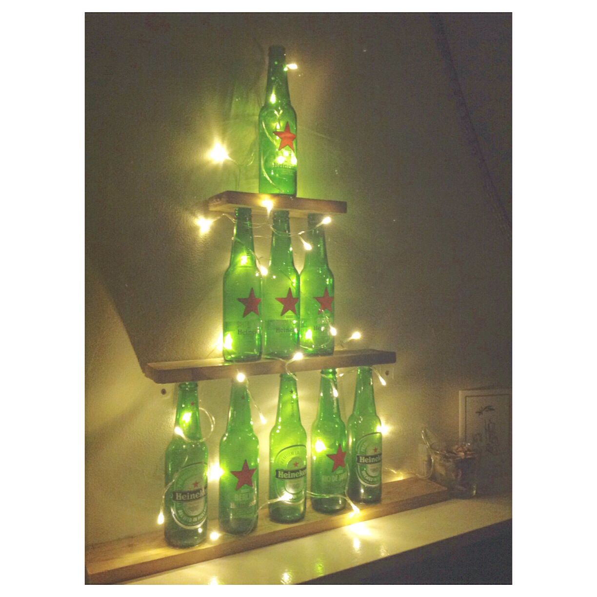 Albero Di Natale Heineken.Diy Heineken Christmas Tree Christmas Apartment Christmas Tree Bottles Decoration