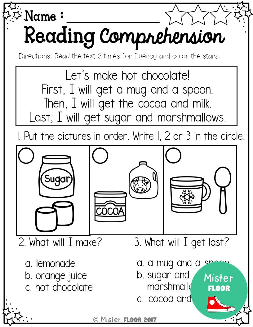 Kindergarten Reading Comprehension Winter Reading Comprehension Reading Comprehension Kindergarten Kindergarten Reading [ 1056 x 816 Pixel ]