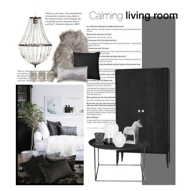 """""""Calming living room"""" by little-bumblebee ❤ liked on Polyvore featuring interior, interiors, interior design, home, home decor, interior decorating, Maison de Vacances, Arteriors, French Connection and Mio"""