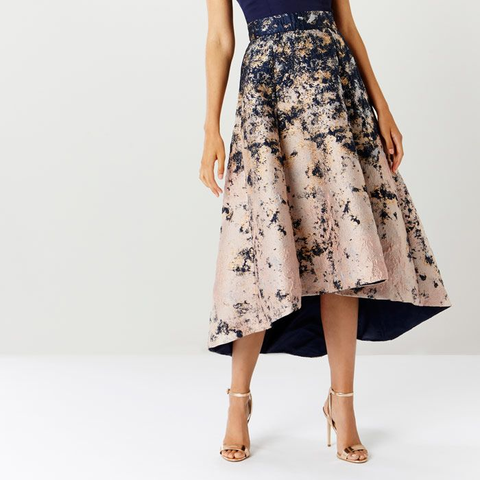 Azure Marble Jacquard Skirt Coast AW17 Collection
