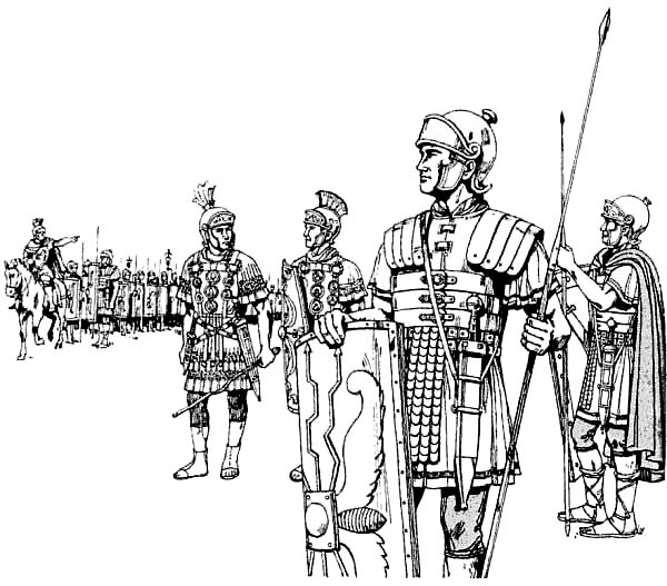 An Ancient Rome Army In The Battlefield Coloring Page Netart Coloring Pages Ancient Rome Roman Drawings