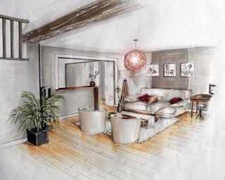 Am esquisse architecture d 39 int rieur et d coration maison design interior design et home - Dessin d interieur de maison ...