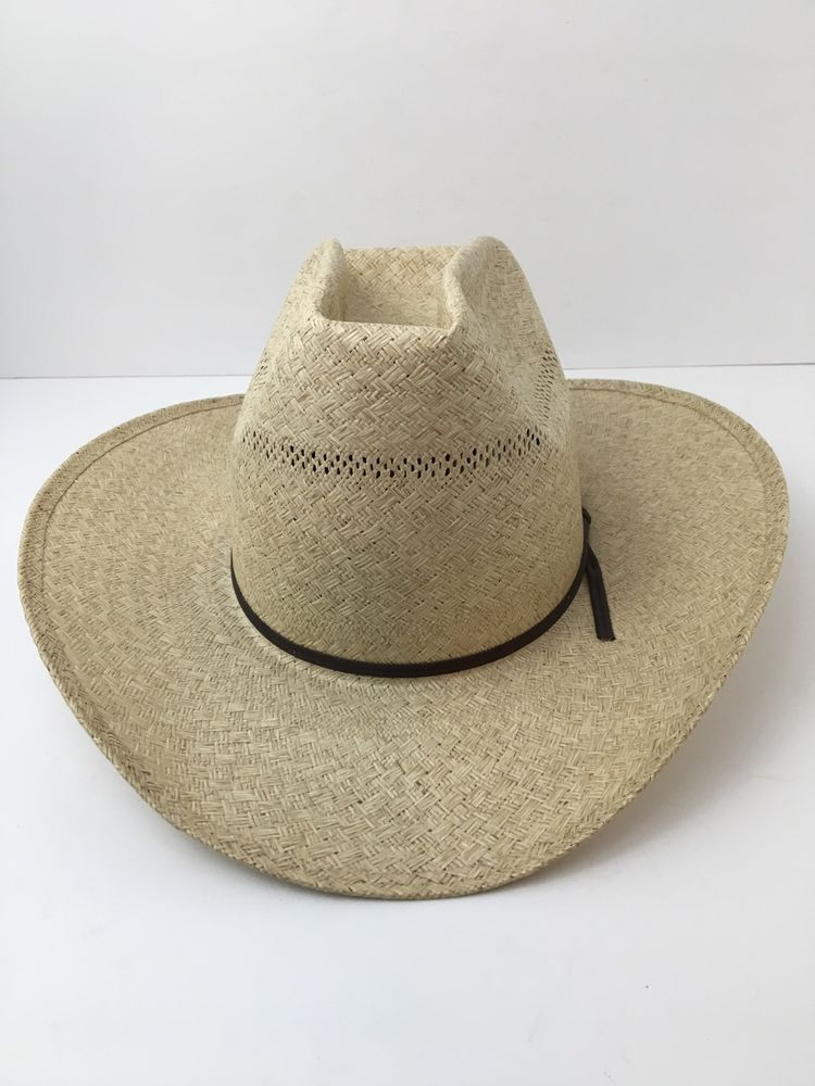 18aa9f040e46c1 Vintage USA Cowboy Western Hat Sisel Straw Pana-American Size 7 1/4  #AmericanHatCo #CowboyHat