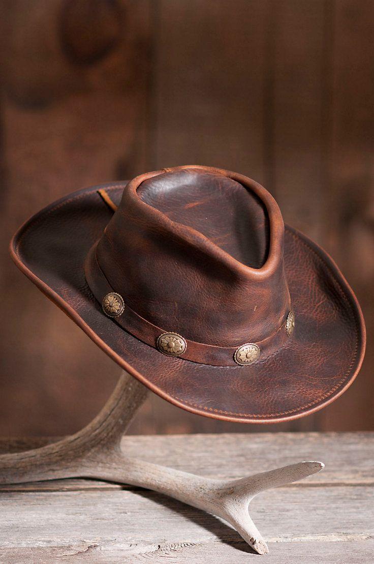 460b6754f49 Raging Bull Leather Cowboy Hat