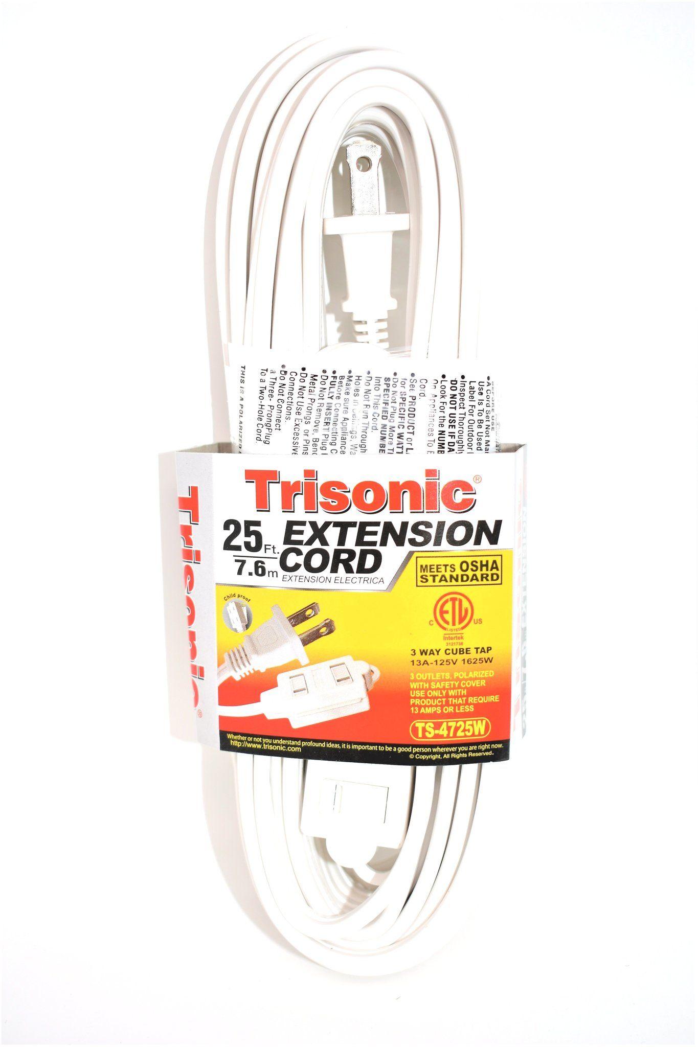 Extension Cord 25 Ft Extension Cord Cord Extensions