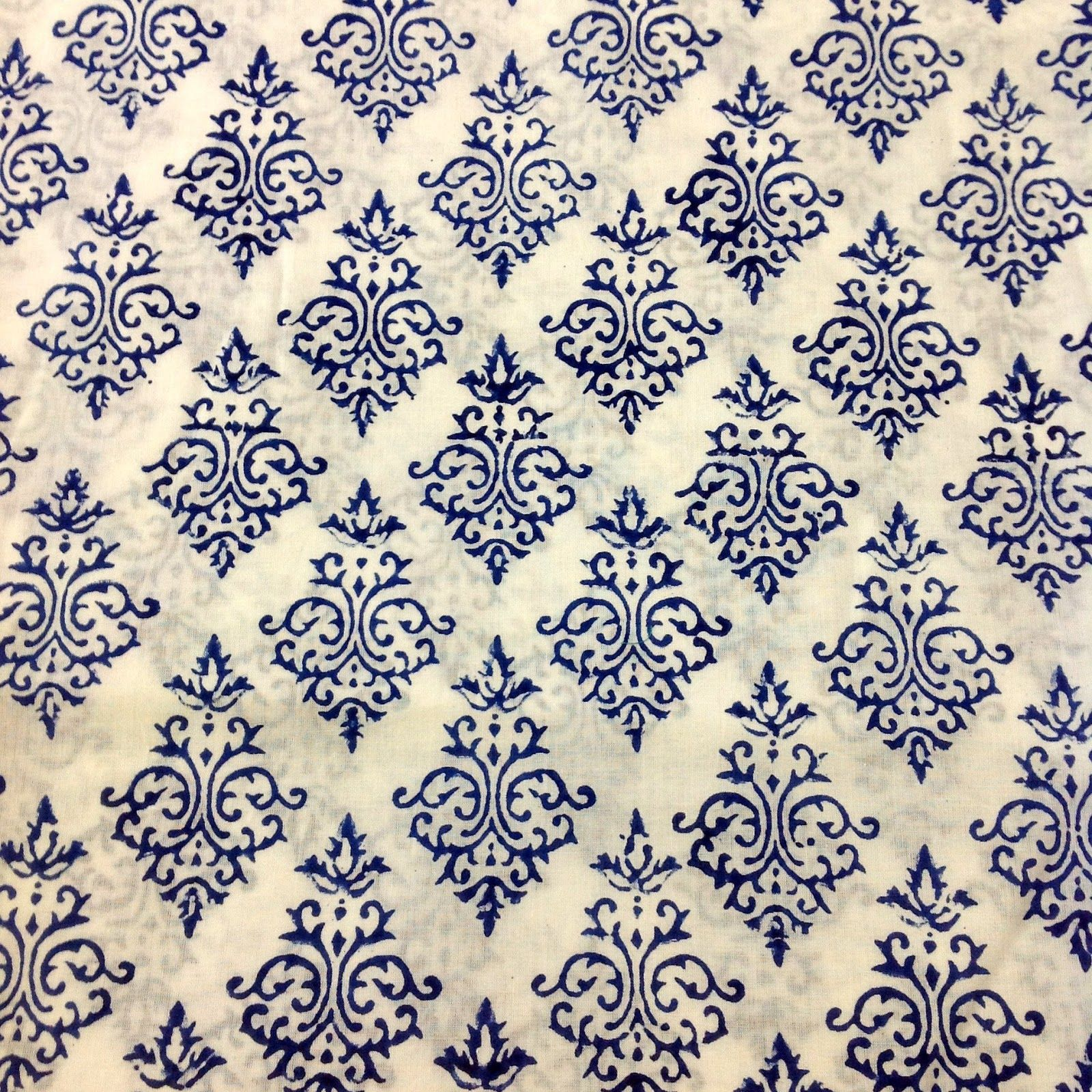 Block printing curtains google search block prints for Printed cotton fabric